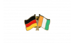 Pin's épinglette de l'amitié Allemagne - Côte d'Ivoire - 22 mm