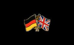 Pin's épinglette de l'amitié Allemagne - Royaume-Uni - 22 mm
