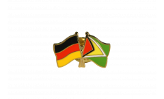 Pin's épinglette de l'amitié Allemagne - Guyana - 22 mm