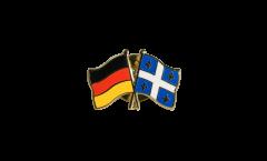 Pin's épinglette de l'amitié Allemagne - Canada Quebec - 22 mm