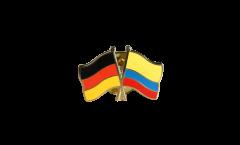 Pin's épinglette de l'amitié Allemagne - Colombie - 22 mm