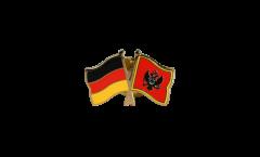 Pin's épinglette de l'amitié Allemagne - Monténégro - 22 mm