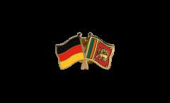Pin's épinglette de l'amitié Allemagne - Sri Lanka - 22 mm