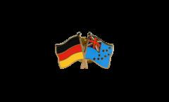 Pin's épinglette de l'amitié Allemagne - Tuvalu - 22 mm
