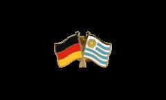 Pin's épinglette de l'amitié Allemagne - Uruguay - 22 mm