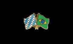 Pin's épinglette de l'amitié Bavière - Brésil - 22 mm