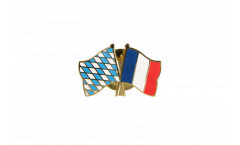 Pin's épinglette de l'amitié Bavière - France - 22 mm