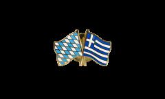 Pin's épinglette de l'amitié Bavière - Grèce - 22 mm