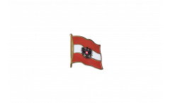 Pin's (épinglette) Drapeau Autriche avec aigle - 2 x 2 cm