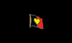 Pin's (épinglette) Drapeau Drapeau à Coeur Belgique - 2 x 2 cm