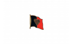 Pin's (épinglette) Drapeau Drapeau à Coeur Belgique 2 - 2 x 2 cm