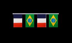 Guirlande d'amitié France - Brésil - 15 x 22 cm