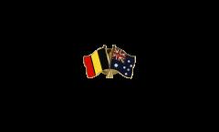 Pin's épinglette de l'amitié Belgique - Australie - 22 mm
