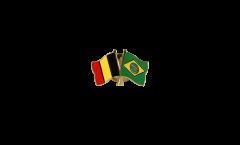 Pin's épinglette de l'amitié Belgique - Brésil - 22 mm