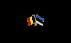 Pin's épinglette de l'amitié Belgique - Estonie - 22 mm