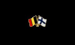 Pin's épinglette de l'amitié Belgique - Finlande - 22 mm