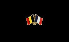 Pin's épinglette de l'amitié Belgique - France - 22 mm