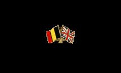 Pin's épinglette de l'amitié Belgique - Royaume-Uni - 22 mm