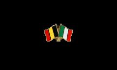 Pin's épinglette de l'amitié Belgique - Italie - 22 mm