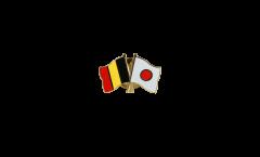Pin's épinglette de l'amitié Belgique - Japon - 22 mm