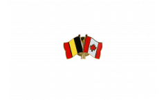 Pin's épinglette de l'amitié Belgique - Canada - 22 mm