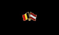 Pin's épinglette de l'amitié Belgique - Autriche - 22 mm