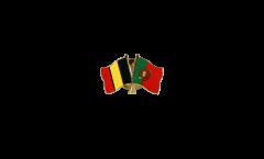 Pin's épinglette de l'amitié Belgique - Portugal - 22 mm