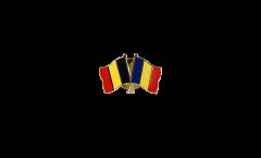Pin's épinglette de l'amitié Belgique - Roumanie - 22 mm