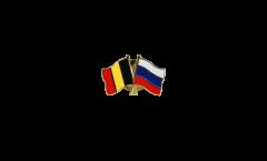 Pin's épinglette de l'amitié Belgique - Russie - 22 mm