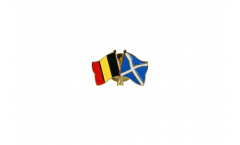 Pin's épinglette de l'amitié Belgique - Ecosse - 22 mm