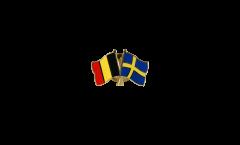 Pin's épinglette de l'amitié Belgique - Suède - 22 mm