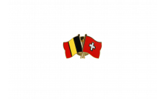 Pin's épinglette de l'amitié Belgique - Suisse - 22 mm