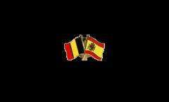 Pin's épinglette de l'amitié Belgique - Espagne - 22 mm