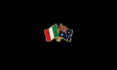 Pin's épinglette de l'amitié Italie - Australie - 22 mm