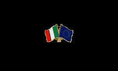 Pin's épinglette de l'amitié Italie - Union européenne UE - 22 mm