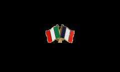 Pin's épinglette de l'amitié Italie - France - 22 mm