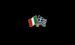 Pin's épinglette de l'amitié Italie - Grèce - 22 mm