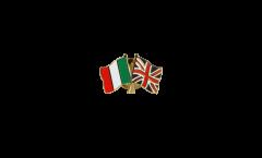 Pin's épinglette de l'amitié Italie - Royaume-Uni - 22 mm