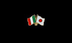 Pin's épinglette de l'amitié Italie - Japon - 22 mm