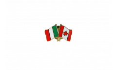 Pin's épinglette de l'amitié Italie - Canada - 22 mm