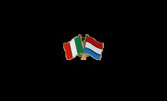 Pin's épinglette de l'amitié Italie - Luxembourg - 22 mm