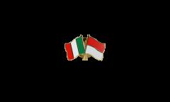 Pin's épinglette de l'amitié Italie - Monaco - 22 mm