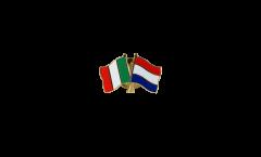 Pin's épinglette de l'amitié Italie - Pays-Bas - 22 mm