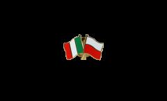 Pin's épinglette de l'amitié Italie - Pologne - 22 mm