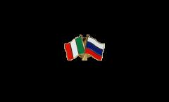 Pin's épinglette de l'amitié Italie - Russie - 22 mm