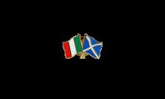 Pin's épinglette de l'amitié Italie - Ecosse - 22 mm