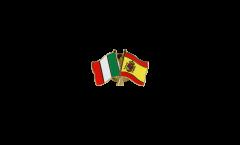 Pin's épinglette de l'amitié Italie - Espagne - 22 mm