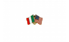 Pin's épinglette de l'amitié Italie - USA - 22 mm