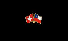 Pin's épinglette de l'amitié Suisse - Chili - 22 mm
