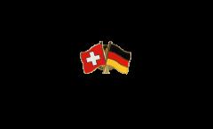 Pin's épinglette de l'amitié Suisse - Allemagne - 22 mm